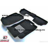 Текстильные 3D коврики Euromat3D Business в салон для OPEL Mokka (2012-) № EMC3D-003815