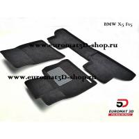 Текстильные 3D коврики Euromat3D Business в салон для BMW X5 (F-15) (2015-) № EMC3D-001215