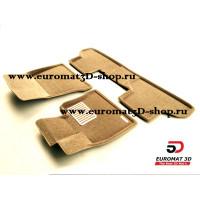 Текстильные 3D Коврики Euromat В Салон Для BMW X5 (F15) (2015-) № EM3D-001215T Бежевые