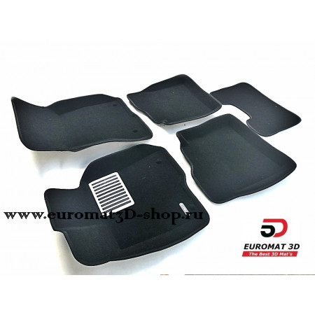 Текстильные 3D Коврики Euromat В Салон Для MERCEDES W221 (S-Class) Long (2010-2013) № EM3D-003504
